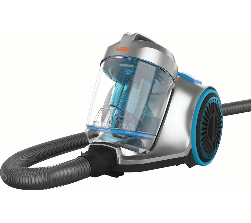 VAX Pick Up Pet CVRAV013 Cylinder Bagless Vacuum Cleaner - Silver & Blue, Silver